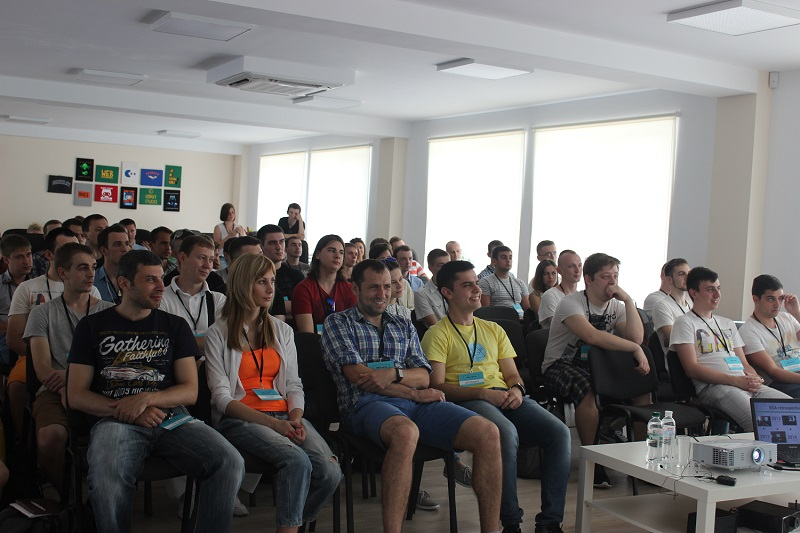 Students attend a lecture in Binary Studio Academy